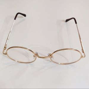 Gold Frame glasses, costume spectacles